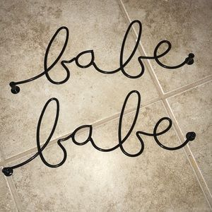 Urban Outfitters Black Babe Wall Hooks (set of 2)